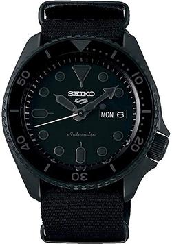 Seiko Men's Black Nylon NATO