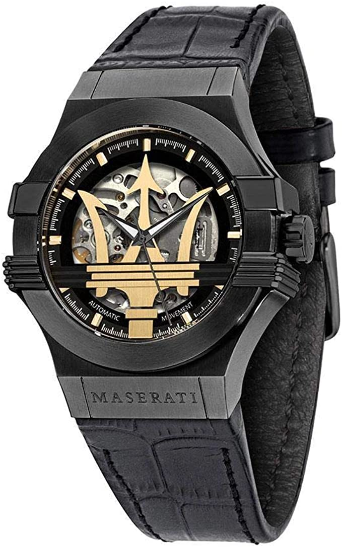MASERATI Men's Potenza Stainless Steel Q