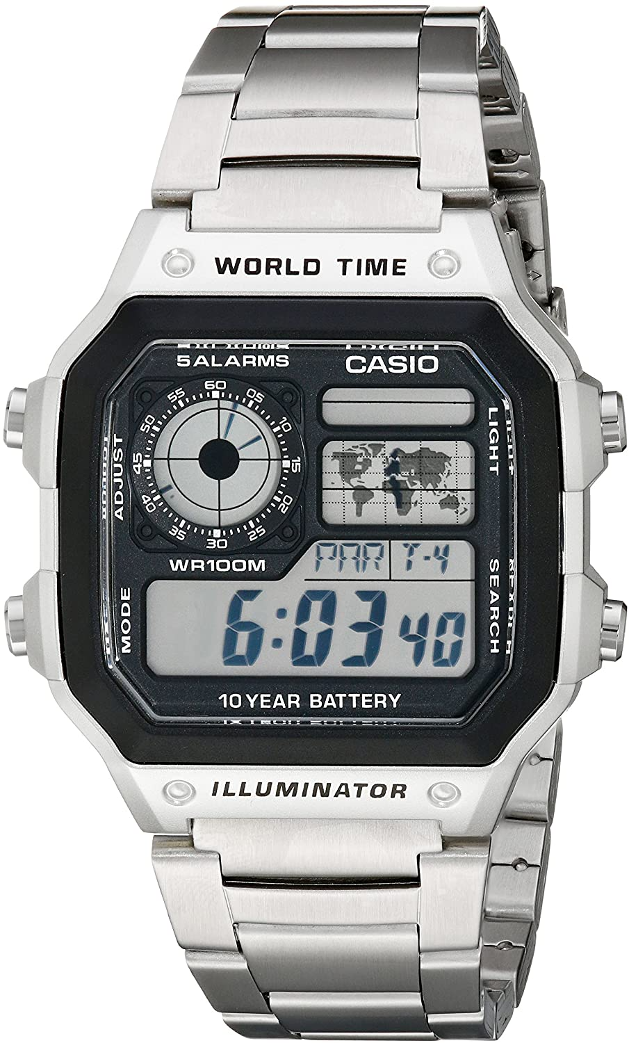 Casio Men's AE1200WHD-1A Stainless Steel
