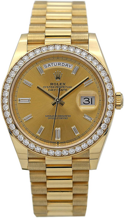 Rolex Day-Date 40 President Yellow Watch