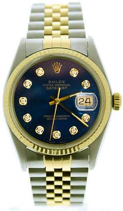 Rolex Mens Datejust Model 16013 36mm Ste