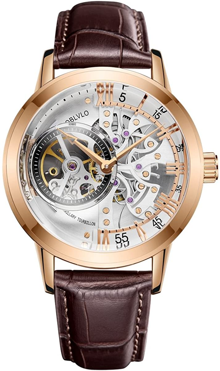 OBLVLO Luxury Rose Gold Watc