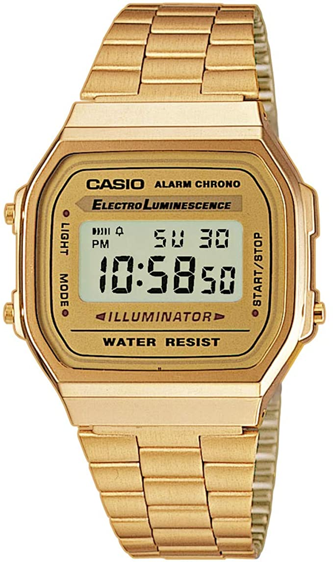 Casio Vintage Retro Gold Digital Dial St