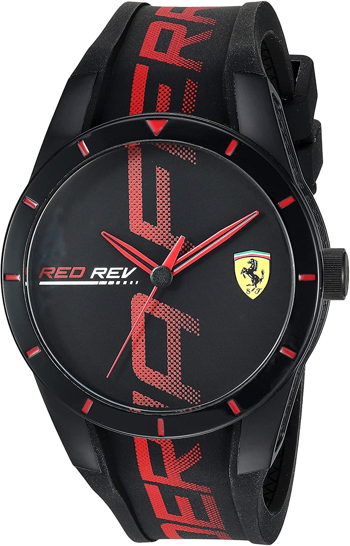 Ferrari Men's Quartz Watch with Silicone
