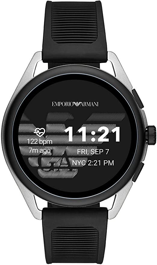 Emporio Armani Smartwatch 3, Powered with Wear OS by Google with Speaker, Heart Rate, GPS, NFC and S