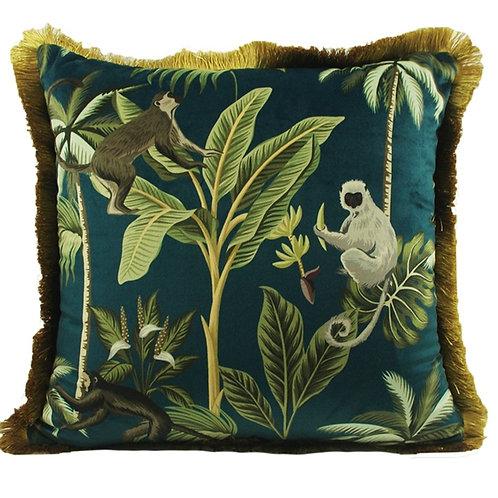 Monkey Velvet Cushion Cover