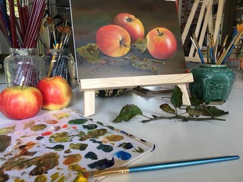 Altijd al eens willen schilderen met olieverf?  Dat kan!
