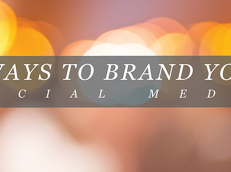 5 Ways to Brand your Social Media