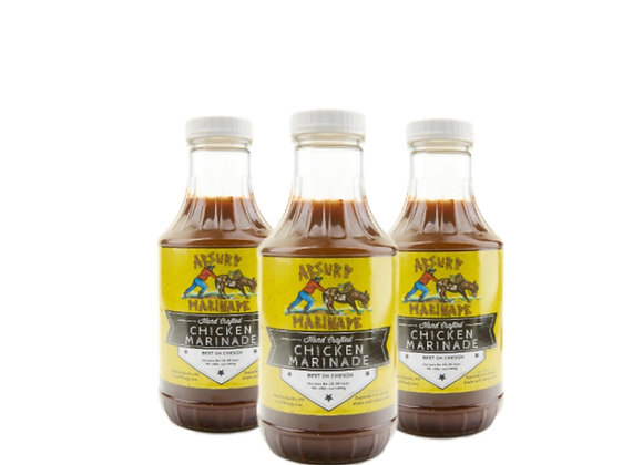 Absurd Chicken Marinade (3 - 16z bottles)