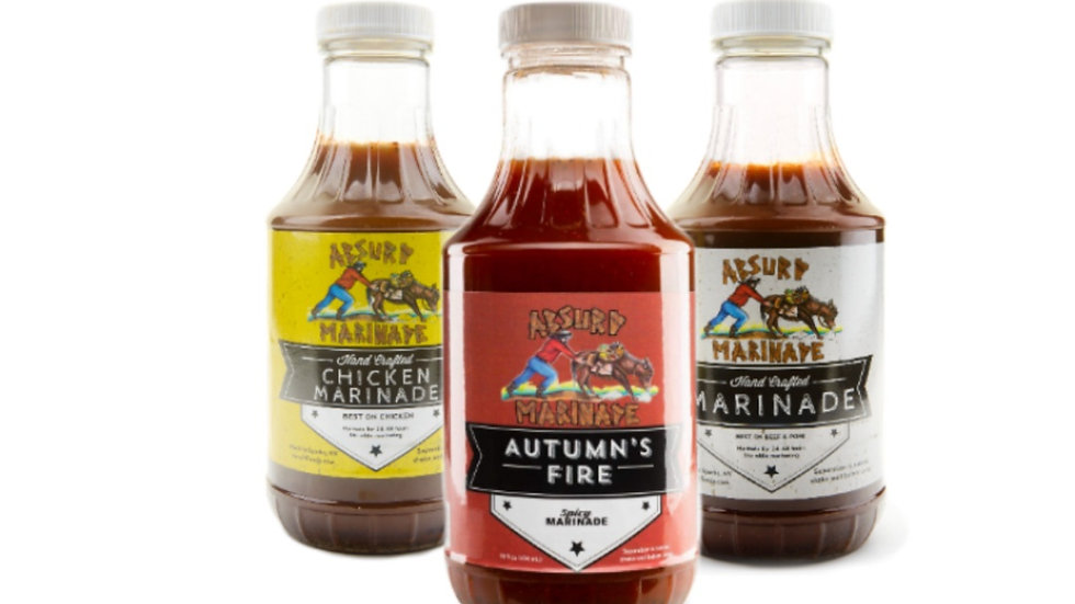 Absurd Spicy, Chicken, Beef Marinade 3 pack combo