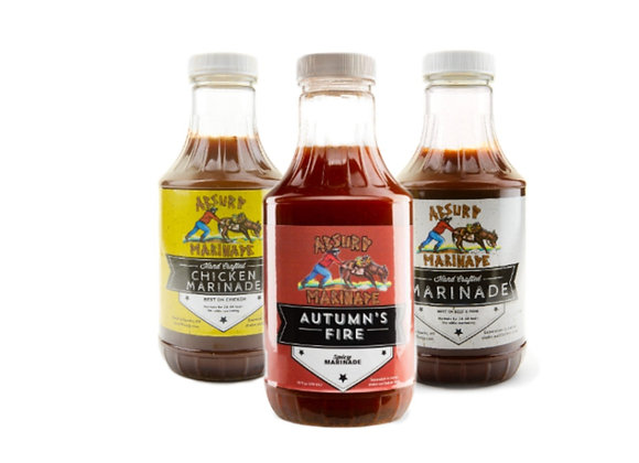 Absurd Spicy,Chicken,Beef Marinade 3 pack combo