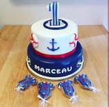 Cake design thème marin