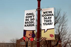 Welcome Back light pole banner alternate