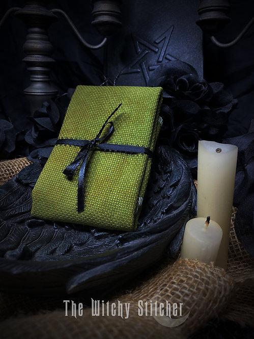Swamp 14 ct Aida - Hand Dyed Fabric