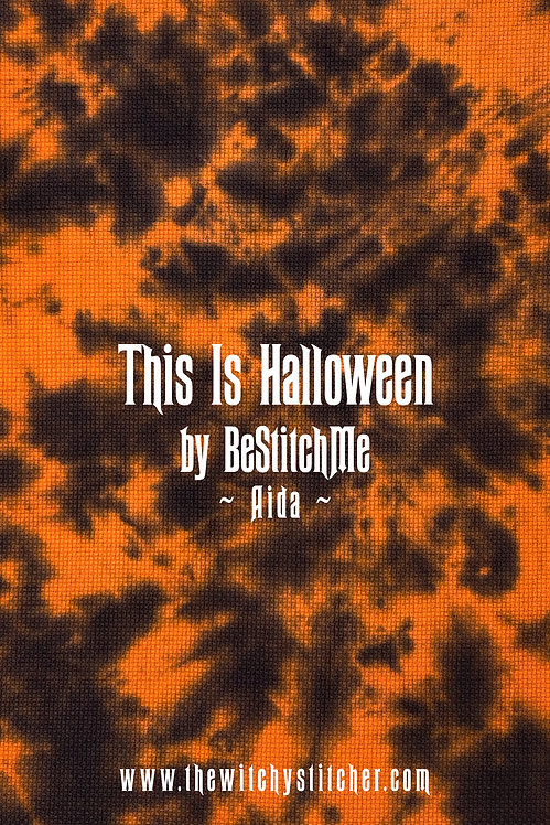 This Is Halloween 14 ct Aida - Hand Dyed Fabric