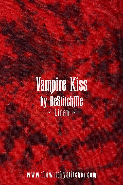 Vampire Kiss 28 ct Linen - Hand Dyed Fabric
