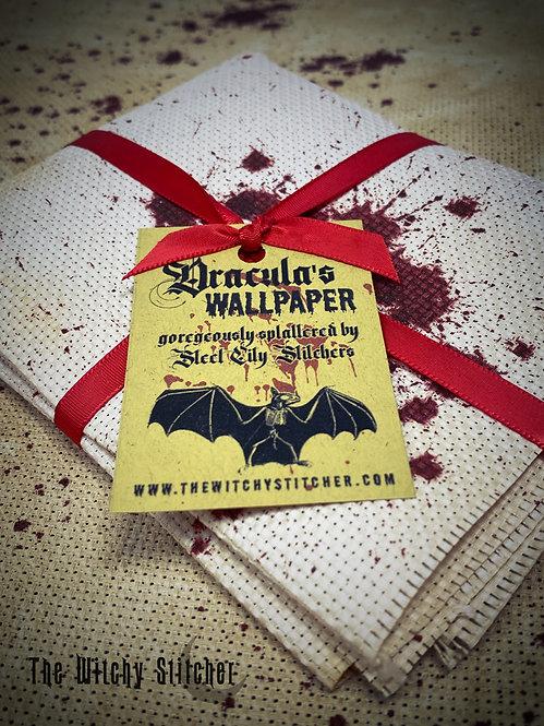 Dracula's Wallpaper - 14 ct Aida - Hand Dyed Fabric