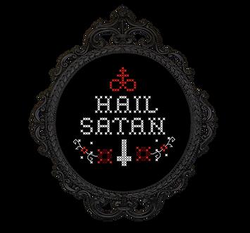 Hail Satan - transparent - free cross st