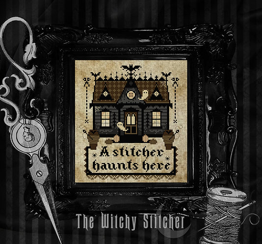 A Stitcher Haunts Here ~ Haunted House ~ PDF Patterns