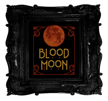 Blood Moon transparent - Free Witchy Sti