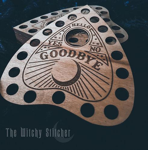 Ouija Thread Holder  - Wood Cut