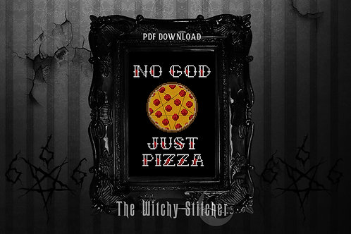 No God Just Pizza ~ PDF Pattern