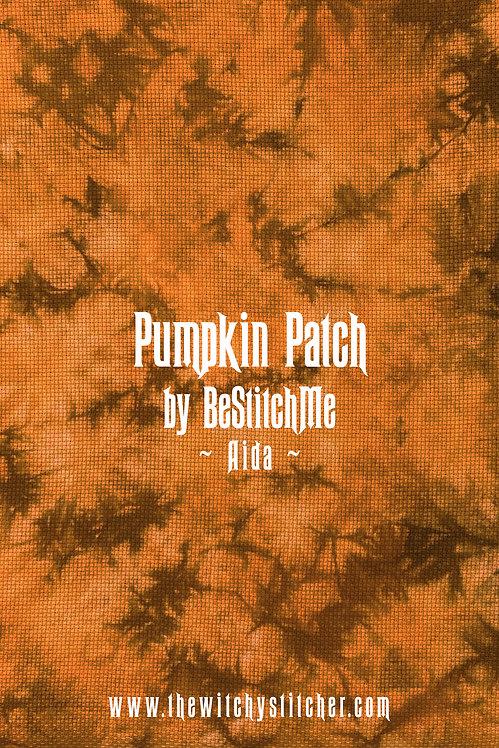 Pumpkin Patch 14 ct Aida - Hand Dyed Fabric