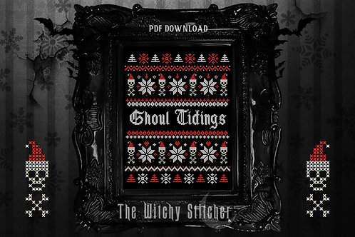 Ghoul Tidings Xmas Sampler ~ PDF Pattern
