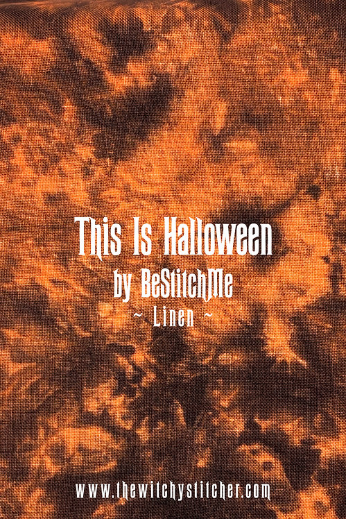 This Is Halloween 28 ct Linen - Hand Dyed Fabric