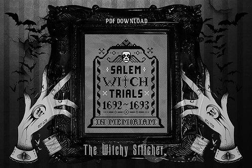 Salem Witch Trials ~ In Memoriam ~ PDF Pattern