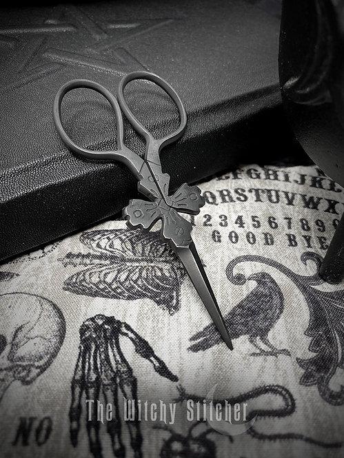 Tudor Cross Primitive Embroidery Scissors