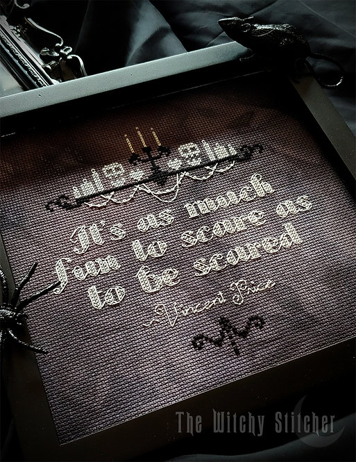 Vincent Price Quote ~ PDF Pattern