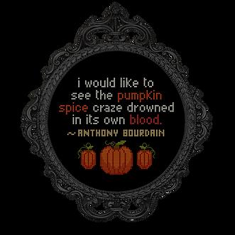 Anthony Bourdain - transparent Pumpkin S