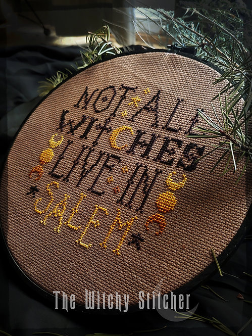 Not All Witches Live In Salem ~ PDF Pattern