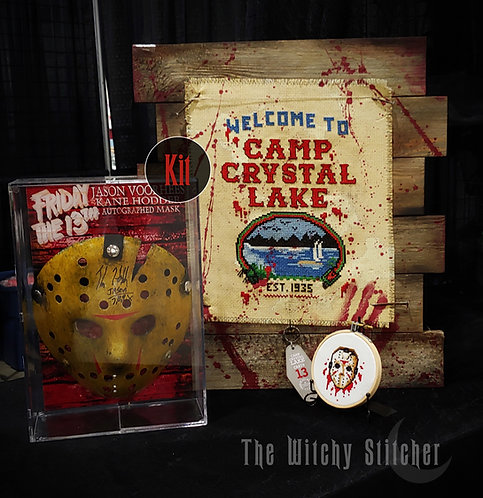 KIT ~ Camp Crystal Lake ~ with hand dyed fabric
