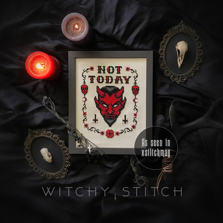 Not Today Satan - sample stitch 2 - The