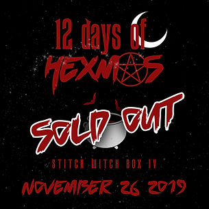 sold out 12 Days of Hexmas announcement