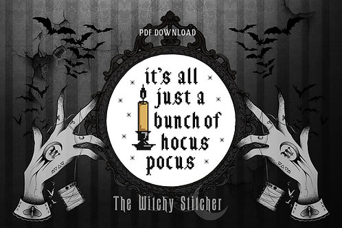 It's All Just A Bunch Of Hocus Pocus ~ PDF Pattern