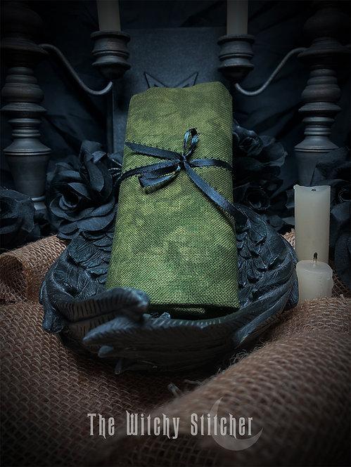 Swamp 28 ct Lugana - Hand Dyed Fabric