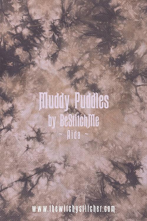 Muddy Puddles 14 ct Aida - Hand Dyed Fabric