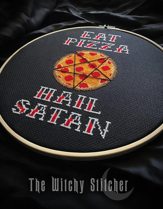 Eat Pizza Hail Satan ~ PDF Pattern