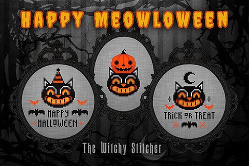 Happy Meowloween ~ Vintage Halloween Set ~ PDF Patterns