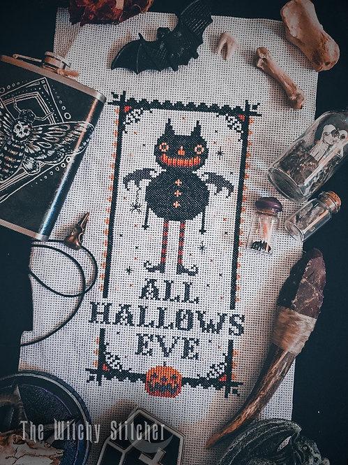 All Hallows Bat ~ Vintage Halloween Set ~ PDF Pattern