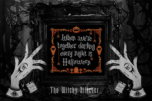 Every Night Is Halloween ~ The Addams Family ~ PDF Pattern