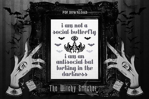 Antisocial Bat ~ PDF Pattern