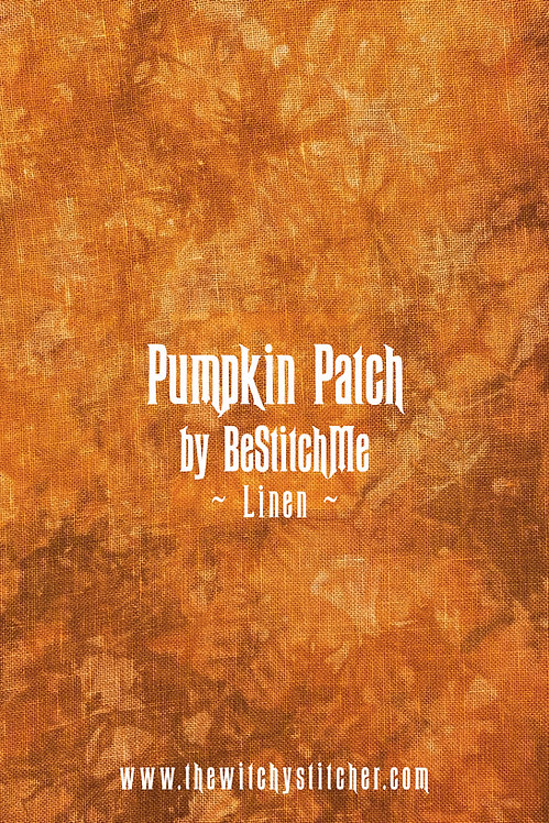 Pumpkin Patch 28 ct Linen - Hand Dyed Fabric