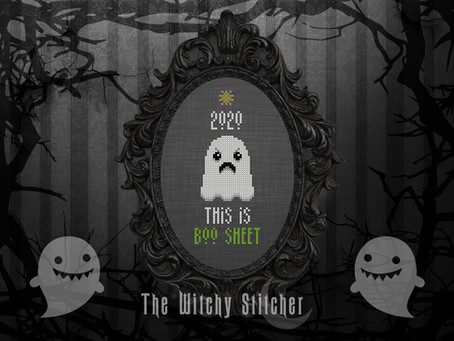 Free 2020 Ghost 'This Is Boo Sheet' Cross Stitch Pattern