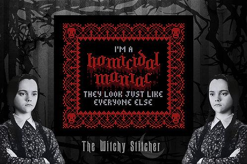Homicidal Maniac ~ PDF Pattern