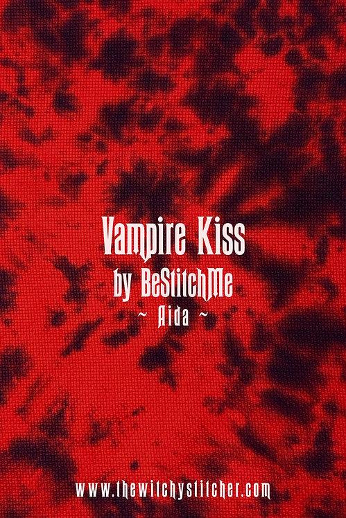 Vampire Kiss 14 ct Aida - Hand Dyed Fabric