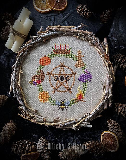 Pagan Wheel of the Year ~ PDF Pattern